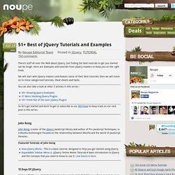 51 Best of jQuery Tutorials and Examples - Noupe Design Blog