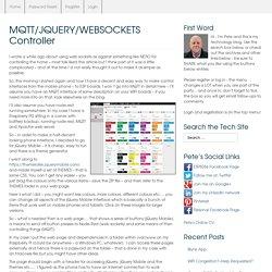 MQTT/JQUERY/WEBSOCKETS Controller