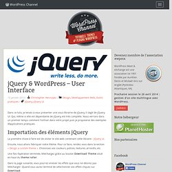 jQuery & Wordpress - User Interface