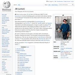 JR (artist) - Wikipedia
