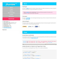 A jQuery Plugin That Rumbles Elements