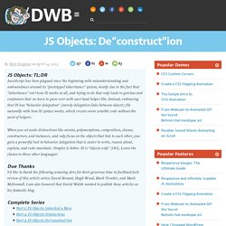 "JS Objects: De""construct""ion"
