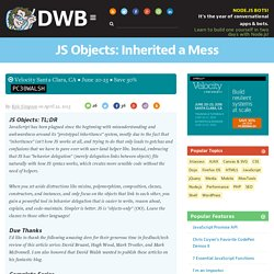 JS Objects: Inherited a Mess
