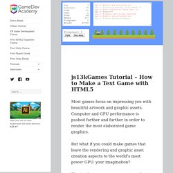 js13kGames Tutorial – How to Make a Text Game with HTML5 – Zenva