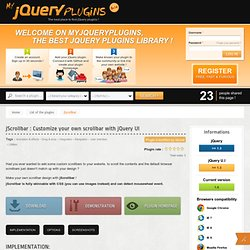 jScrollbar : make your own scrollbar for scrolling contents with jQuery UI - MyjQueryPlugins