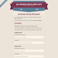 jslibraryboilerplate by dciccale
