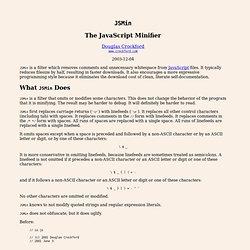Minifier son code (JSMin