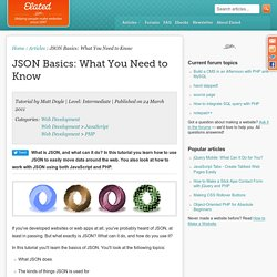 JSON Basics: What You Need to Know