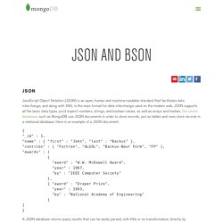 JSON and BSON