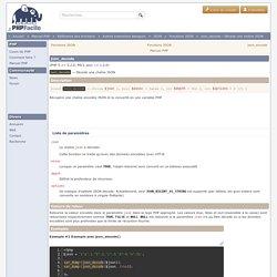 json_decode - Décode une chaîne JSON
