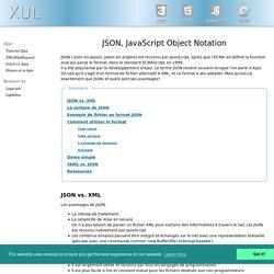 JSON, format d'échange de données
