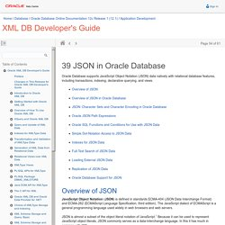 JSON in Oracle Database