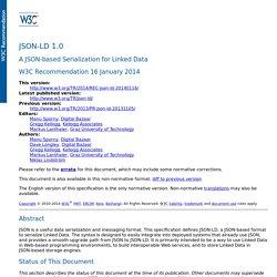 JSON-LD 1.0