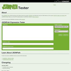 JSONPath Expression Tester
