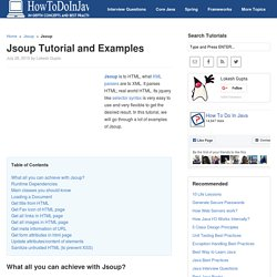 Jsoup Tutorial and Examples