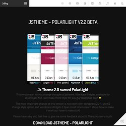 JsTheme - PolarLight v2.2 beta at JsBlog