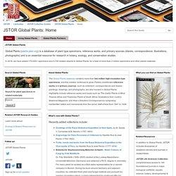 Home - JSTOR Global Plants - LibGuides at JSTOR