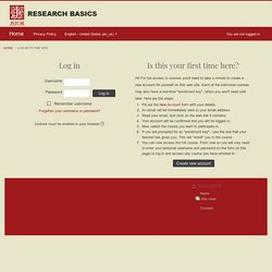 JSTOR Research Basics: Log in to the site