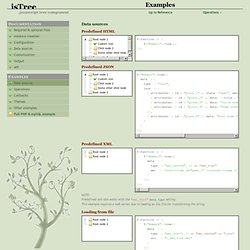jsTree » Examples
