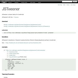 JSTweener – CodeRepos