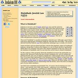 Halakhah: Jewish Law