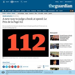 A new way to judge a book at speed: read only page 112