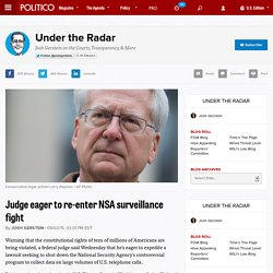 Judge eager to re-enter NSA surveillance fight
