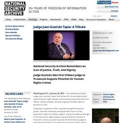 Judge Juan Guzmán Tapia: A Tribute