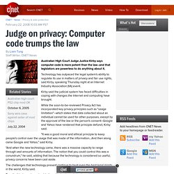 Judge on privacy: Computer code trumps the law