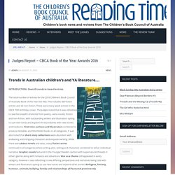 Judges Report - CBCA Book of the Year Awards 2016 - Reading Time