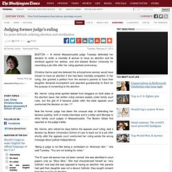 Judging former judge's ruling