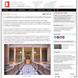 La médiation judiciaire, la conciliation et la notion d'autorité