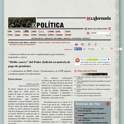 ''Doble rasero'' del Poder Judicial en materia de pago de pensiones