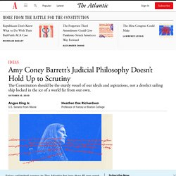 Amy Coney Barrett's Judicial Philosophy Doesn't Hold Up to Scrutiny