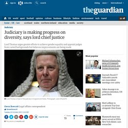 Judiciary is making progress on diversity, says lord chief justice