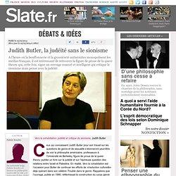 Judith Butler, la judéité sans le sionisme