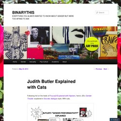 Judith Butler Explained with Cats