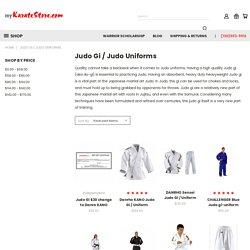 Judo Gi / Judo Uniforms - Page 1 - myKarateStore.com LLC