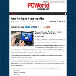 Juega PlayStation 4 desde una Mac
