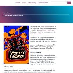 """El juego de cartas """"Mujeres de ciencia"""""""
