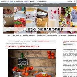 JUEGO DE SABORES : APERITIVOS