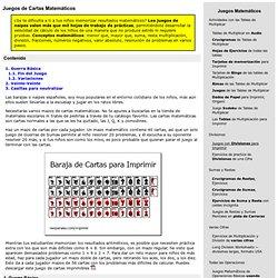 Juegos de Cartas Matemáticos