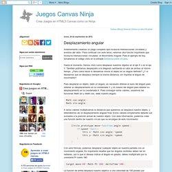 Juegos Canvas Ninja: Desplazamiento angular