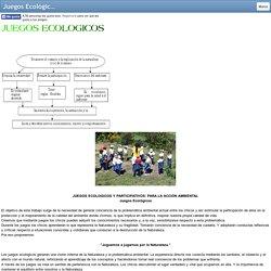 Juegos Ecológicos - Todo Sobre el Medio Ambiente