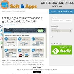 Crear juegos educativos online y gratis en el sitio de Cerebriti
