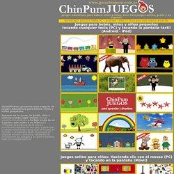 Juegos educativos para bebes y niños. Chin Pum Juegos online y gratis