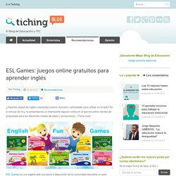 ESL Games: juegos online gratuitos para aprender inglés