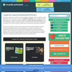 Juegos del mapa de España para Primaria