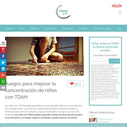 Juegos para mejorar la concentración de niños con TDAH