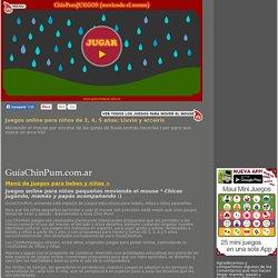 Juegos online para niños de 3, 4, 5 años: Lluvia y arcoiris